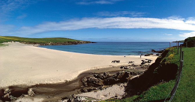 The delightful beach at Unst