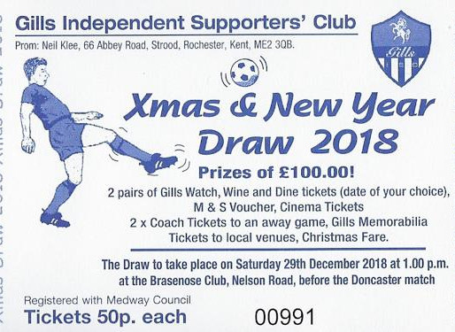 Christmas Draw Results 2018