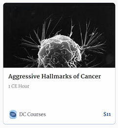 Aggressive Hallmarks of cancer Sample online chiopractic ce course continuing education credit hours
