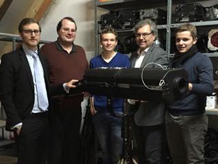 Übergabe des Spotlights an die Elektronik AG in der Kulturscheune