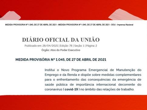 Entenda a Medida Provisória 1.045 do  Novo Programa Emergencial de Manutenção do Emprego e da Renda