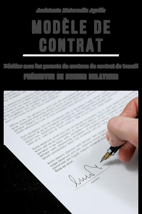 Contrat de travail Assistante Maternelle