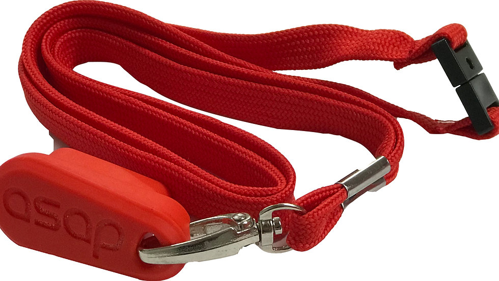 Red charging key fob