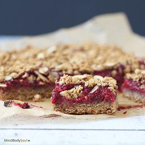 Raspberry Chia Crumb Bars