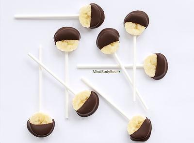 Chocolate Banana Lollipops