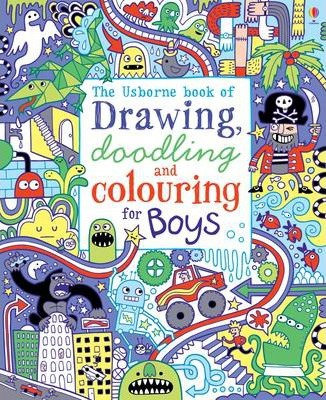 The Usborne Book of Drawing, Doodling and Colouring for Boys (9781409539667))