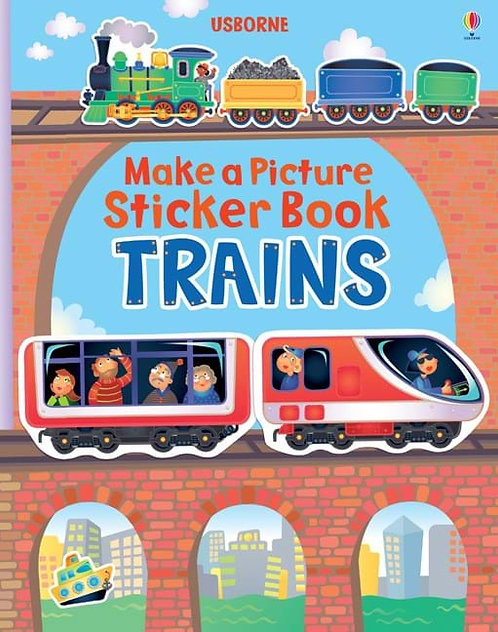 Trains: Make a Picture Sticker Book (9781409535065)