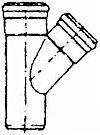 T-stuk 45° PVC 2xMsp