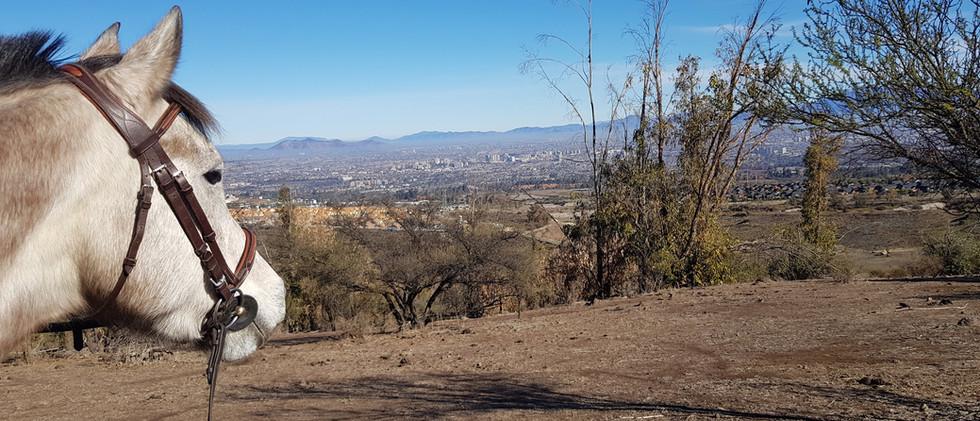 De paseo con vista a Santiago