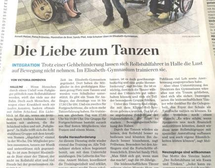 """Unsere Tanzgruppe """"ABGEFAHREN* startet durch!"""