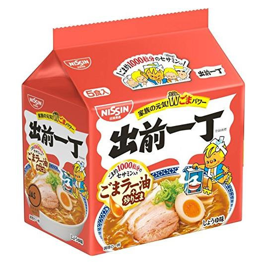 日本 日版日清Nissin出前一丁麻油味方便面 五包