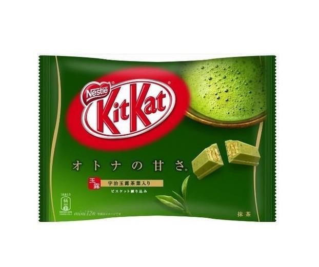 雀巢kitkat宇治抹茶巧克力威化松脆可口12枚