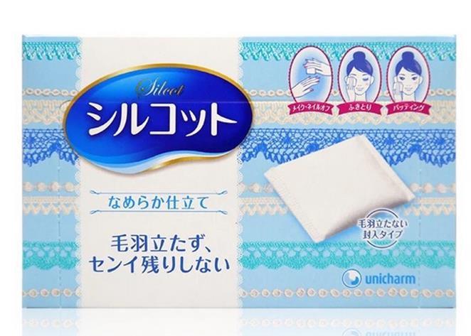 日本UNICHARM SILCOT超柔软化妆棉 82枚入 日本销量冠军