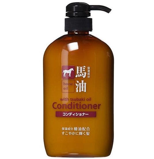 日本熊野油脂无硅油马油护发素 补水滋润保湿 弱酸性发膜