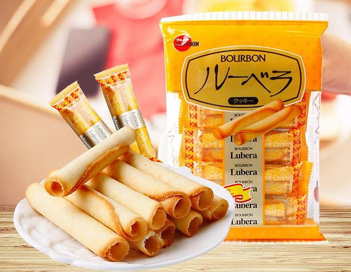 日本BOURBON波路梦 酥脆黄油蛋卷 52g *12包