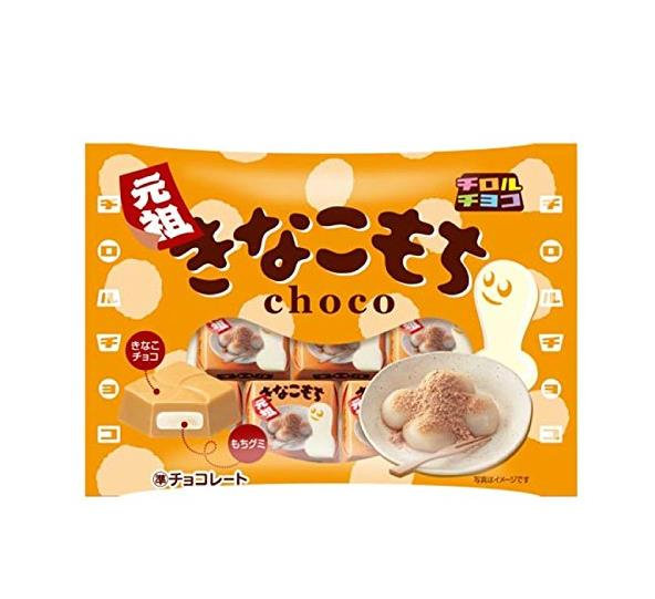 日本零食 TIROL CHOCO松尾黄豆粉年糕夹心糯米糍巧克力 10包
