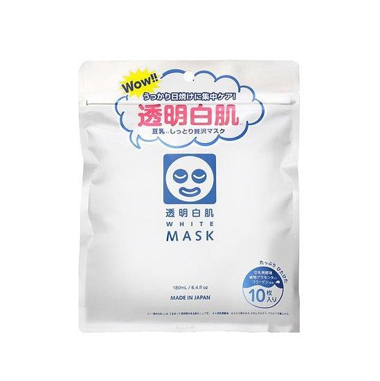 日本ISHIZAWA LAB石泽研究所 透明白肌 豆乳保湿晒后修复美白面膜 10枚入