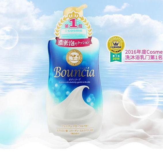 日本COW牛乳石碱共进社 Bouncia浓密泡沫沐浴乳 550ml COSME大赏第一位 限购1/单