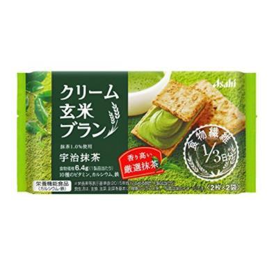 日本热销人气零食 Asahi 朝日玄米水果味夹心饼干72g