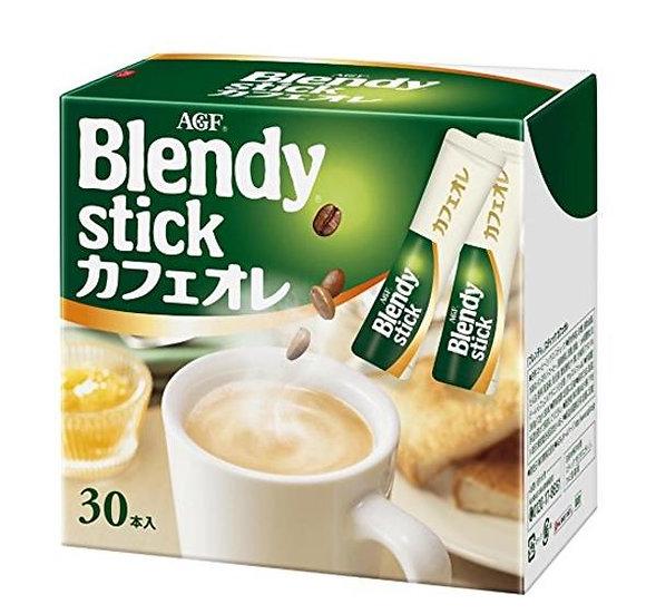 日本 AGF blendy stick 三合一速溶混合牛奶咖啡原味欧蕾30支