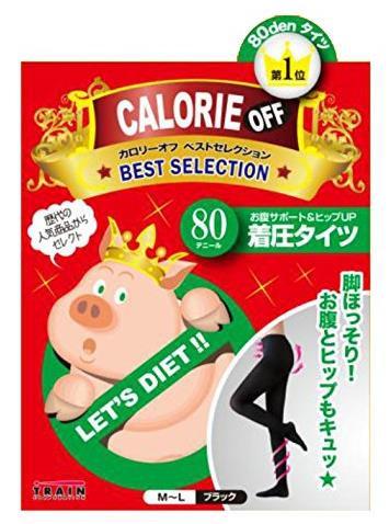 日本 TRAIN 小猪妹 阶段式着压收腹提臀瘦腿连裤袜 80D