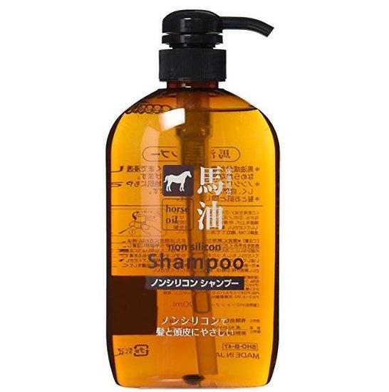 日本熊野油脂马油滋润无硅洗发水600ml