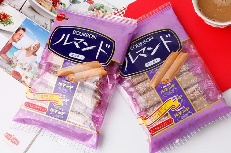 日本BOURBON波路梦 可可奶油千层酥脆卷 96g*12包