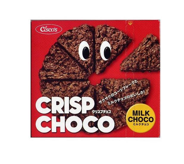 日清CISCO牛奶巧克力味麦脆批玉米片饼干57g*12盒