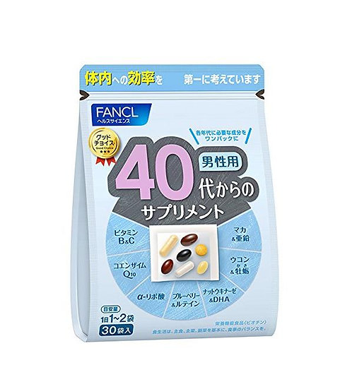 FANCL芳珂 40岁男性综合维生素营养  30天量 90天量