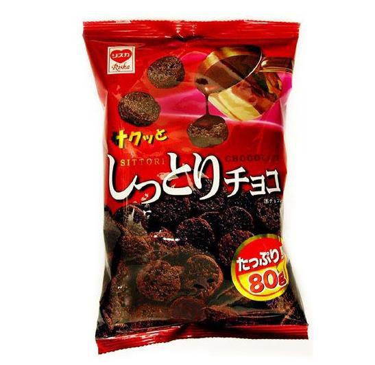 日本零食 Riska巧克力饼干曲奇可牛奶冲泡 5包