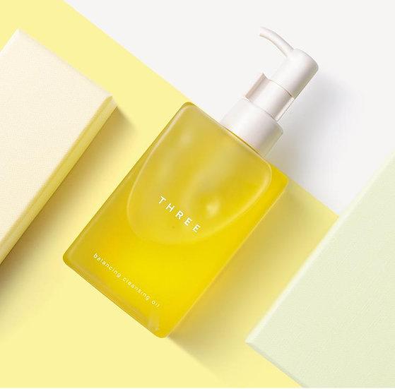 日本制THREE 植物温和 平衡洁肤卸妆油天然卸妆水温和洁净 200ml
