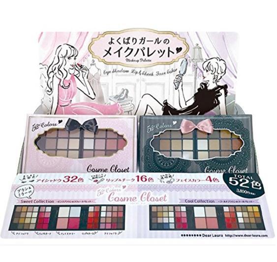 日本DEAR LAURA 52色眼影盘