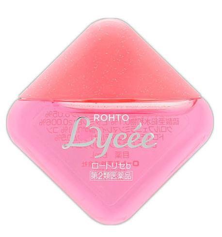 日本ROHTO乐敦 LYCEE 粉红小花 眼药水 佩戴、未佩戴隐形眼镜两款专用 8ml