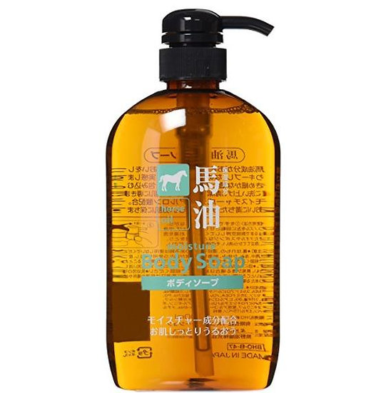 日本熊野油脂无硅弱酸性马油保湿滋润紧致肌肤沐浴露