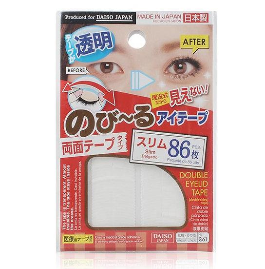 日本DAISO/大创 超自然隐形透明双面胶型双眼皮贴 86枚