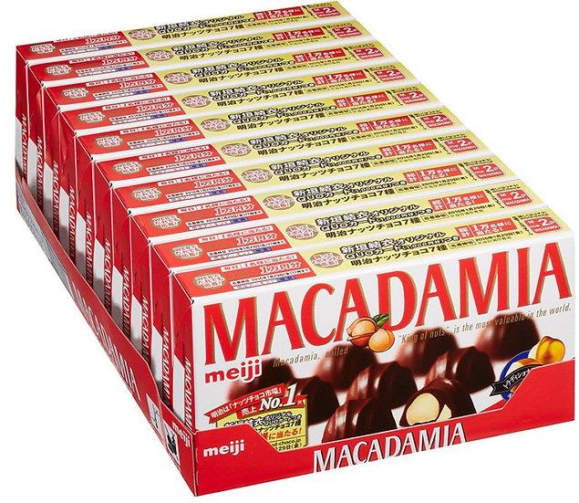 明治meiji 澳洲坚果夹心巧克力果仁夹心巧克力9粒*10盒