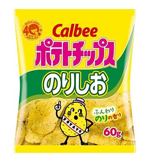 日本零食 Calbee卡乐比 天然薯片海苔咸香口味 5包