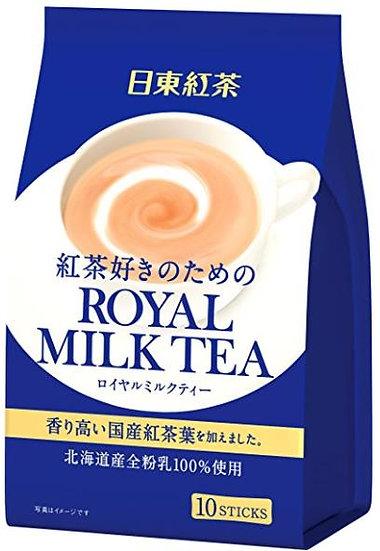 日本进口 日东红茶日东奶茶皇家奶茶香醇北海道奶茶冲饮 10条便捷装