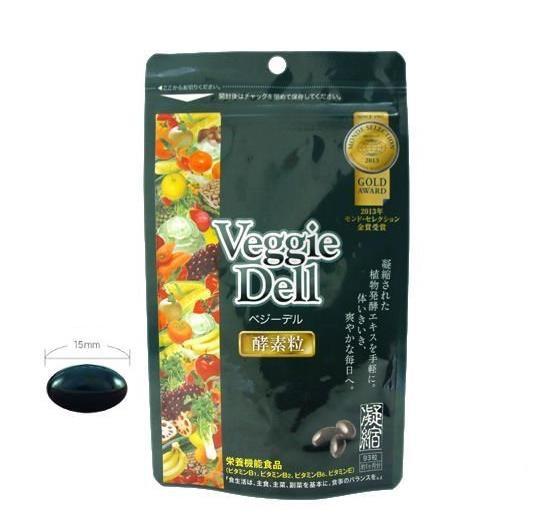 日本 水谷雅子推荐 Veggie Dell 酵素浓缩原液软胶囊 蔬果植物黑糖发酵