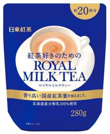 日本进口 日东红茶日东奶茶皇家奶茶香醇北海道奶茶粉速溶 约20杯 280g