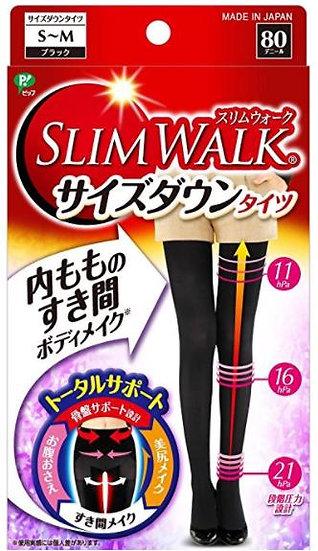 日本 Slim walk 新款丝翎舒适发热塑形美腿骨盆收腹连裤袜
