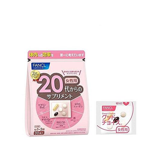 FANCL 芳珂 20岁女性综合维生素营养 30天量 90天量