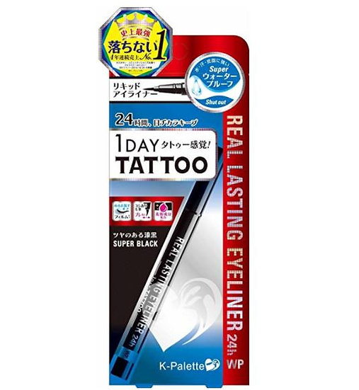 COSME大赏 K-Palette 1DAY TATTOO持久防水不晕染极细眼线液笔/眼线笔