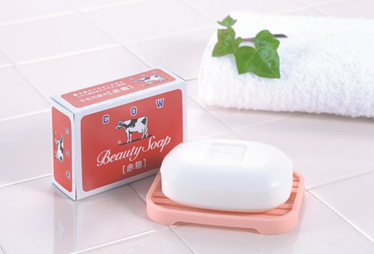 日本COW 牛乳石碱牛奶沐浴香皂 清爽茉莉 玫瑰香型 每单限购2枚