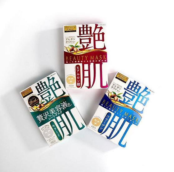 日本UTENA PREMIUM PURESA 坚果油艳肌面膜 4片入 三款可选