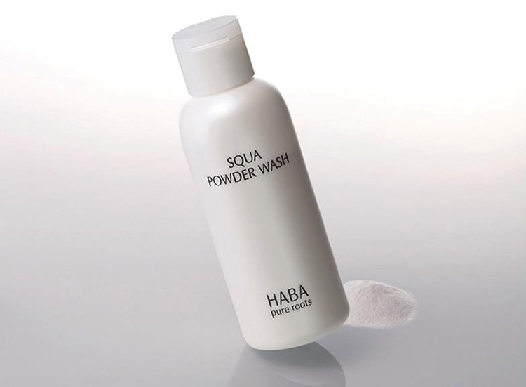 HABA鲨烷美肌洁颜粉80g温和清洁毛孔去黑头洗面奶日本无添加