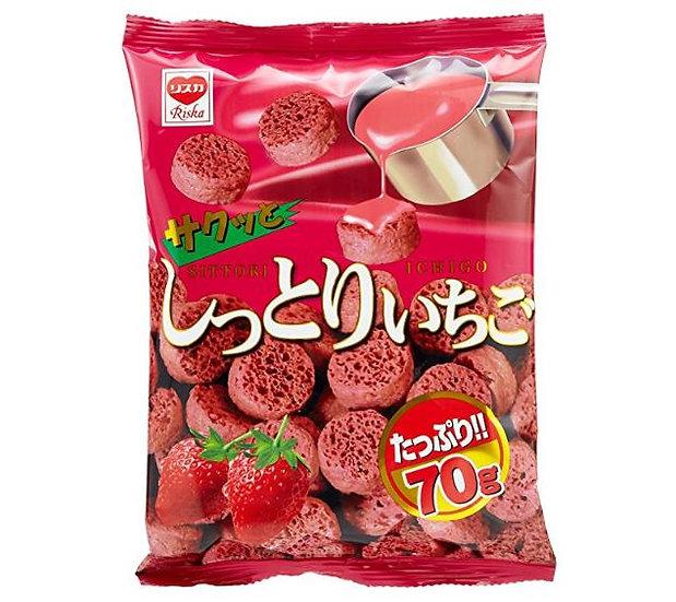 日本零食 Riska草莓饼干曲奇可牛奶冲泡 15包