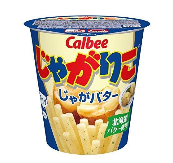 日本零食 Calbee卡乐比 薯条零食棒-土豆黄油口味 5盒