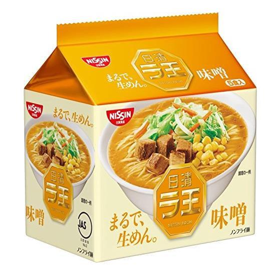 日本方便面 日清NISSIN 拉王味增味拉面非油炸拉面泡面