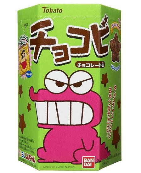 日本桃哈多tohato蜡笔小新粟米星巧克力味饼干25g*6盒